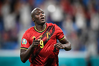 ST PETERSBURG, RUSSIA - JUNE 12 :  Romelu Lukaku forward of Belgium celebrates scoring the 3-0  pictured during the 16th UEFA Euro 2020 Championship Group B match between Belgium and Russia on June 12, 2021 in St Petersburg, Russia, 12/06/2021 <br /> Photo Photonews / Panoramic / Insidefoto <br /> ITALY ONLY