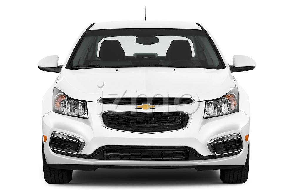 Car photography straight front view of a 2015 Chevrolet Cruze 4-Door Sedan 2LT Automatic 4 Door  Front View