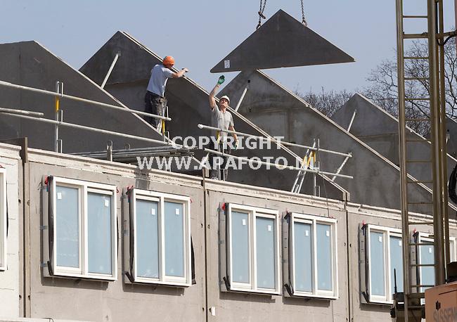 Ede, 030412<br /> 'Wonen aan de Houtwal', woningbouw door Schuttebouw in Kernhem volgens het LeefID.<br /> Foto: Sjef Prins - APA Foto