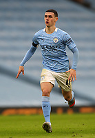 10th January 2021; Etihad Stadium, Manchester, Lancashire, England; English FA Cup Football, Manchester City versus Birmingham City; Phil Foden of Manchester City sprints after the ball