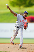 Hagerstown Suns starting pitcher Ivan Pineyro (37) in action against the Kannapolis Intimidators at CMC-Northeast Stadium on May 17, 2013 in Kannapolis, North Carolina.  The Suns defeated the Intimidators 9-7.   (Brian Westerholt/Four Seam Images)