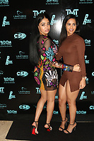 MIAMI, FL - FEBRUARY 19: Nebat Yusuf (R) and a guest  attend Floyd Mayweather's 44th futuristic Birthday Party at Casablanca on the Bay on February 19, 2021 in Miami, Florida. Photo Credit: Walik Goshorn/Mediapunch
