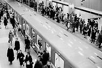 1976 FILE PHOTO - ARCHIVES -<br /> <br /> Canada - Quebec - Montreal - Subway<br /> 1976<br /> <br /> PHOTO : Boris Spremo - Toronto Star Archives - AQP