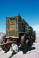 Death Valley National Park, California, CA, USA - Twenty Mule Team Wagons from 1880's on Display at the Harmony Borax Works, near Furnace Creek
