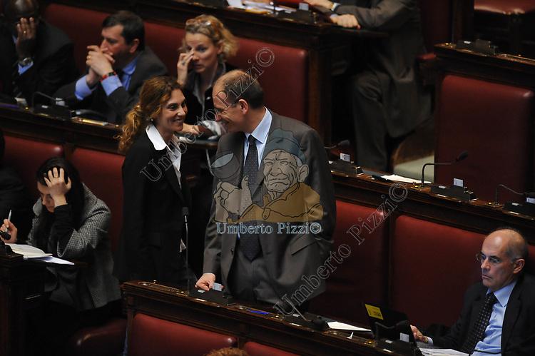 ENRICO LETTA E MARIANNA MADIA<br /> PARLAMENTO ROMA 2009