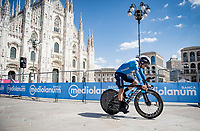 Nelson Oliveira (POR/Movistar) finishing in front of the mighty Duomo in Milano<br /> <br /> 104th Giro d'Italia 2021 (2.UWT)<br /> Stage 21 (final ITT) from Senago to Milan (30.3km)<br /> <br /> ©kramon