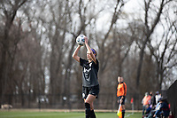 LOUISVILLE, KY - MARCH 13: Emily Fox #11of Racing Louisville FC throws in the ball during a game between West Virginia University and Racing Louisville FC at Thurman Hutchins Park on March 13, 2021 in Louisville, Kentucky.