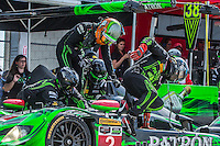 Driver change, #2 HPD ARX-04b 01/Honda ,  Johannes van Overbeek, Jon Fogarty, Ed Brown  12 Hours of Sebring, Sebring International Raceway, Sebring, FL, March 2015.  (Photo by Brian Cleary/ www.bcpix.com )