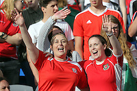 Pictured: Wales fans at the Cardiff City Stadium Friday 08 July 2016<br />