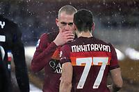 Rick Karsdorp and Henrikh Mkhitaryan of Roma during the Serie A football match between AS Roma and UC Sampdoria at Olimpico stadium in Roma (Italy), January 3rd, 2021. Photo Andrea Staccioli / Insidefoto