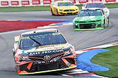 #19: Martin Truex Jr., Joe Gibbs Racing, Toyota Camry Bass Pro Shops, #42: Kyle Larson, Chip Ganassi Racing, Chevrolet Camaro Clover