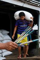 Activity along the Yangon River