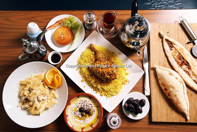 Food photo-shoot for Deliveroo, Deera restaurant, Swansea, Wales, UK. Monday 18 September 2017