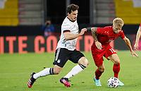2nd June 2021, Tivoli Stadion, Innsbruck, Austria; International football friendly, Germany versus Denmark;  Mats Hummels Germany and Daniel Wass Denmark