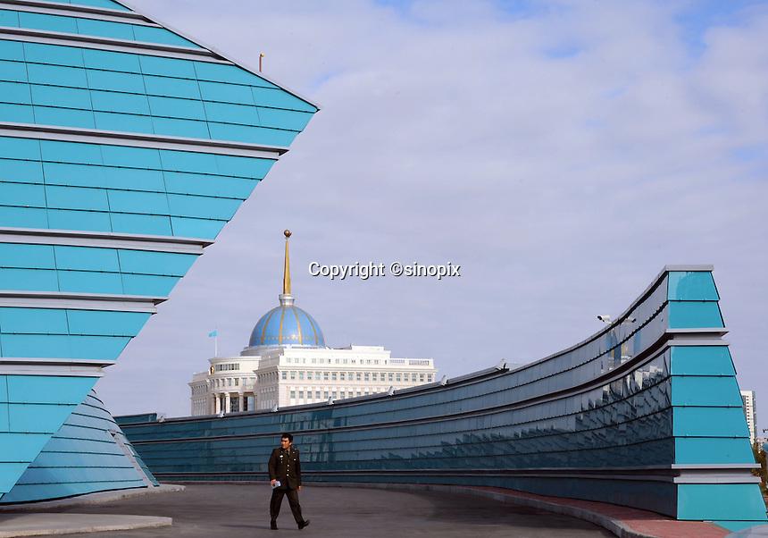The Kazakhstan Central Concert Hall, designed by Manfredi Nicoletti, in Astana, the capitol of Kazakstan.<br /> <br /> PHOTO BY RICHARD JONES/SINOPIX