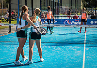 Netherlands, September 6,  2020, Amsterdam, Padel Dam, NK Padel, National Padel Championships, Final womans double:  Tess van Dinteren (NED) and Milou Ettekoven (L) (NED) celebrate their win<br /> Photo: Henk Koster/tennisimages.com
