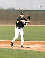 Chris Getz  -  Chicago White Sox - 2009 spring training.Photo by:  Bill Mitchell/Four Seam Images