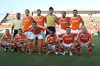 Houston Dynamo starting XI.   Houston Dynamo tied New York Red Bulls 1-1 at Robertson Stadium in Houston, TX on July 29, 2006.