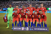 EAST RUTHERFORD, NJ - SEPTEMBER 7: USMNT starting eleven during a game between Mexico and USMNT at MetLife Stadium on September 6, 2019 in East Rutherford, New Jersey.