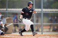 Edgewood College Eagles Tim Nunn (12) at bat during the first game of a doubleheader against Western Connecticut Colonials on March 13, 2017 at the Lee County Player Development Complex in Fort Myers, Florida.  Edgewood defeated Western Connecticut 3-0.  (Mike Janes/Four Seam Images)