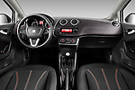 Straight dashboard view of 2010 Seat Ibiza ST 5 Door Wagon Stock Photo