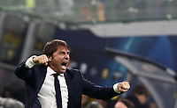 Football Soccer: UEFA Champions League -Group Stage- Group F Internazionale Milano vs Borussia Dortmund, Giuseppe Meazza stadium, October 23, 2019.<br /> Inter's coach Antonio Conte celebrates after winning 2-0 the Uefa Champions League football match between Internazionale Milano and Borussia Dortmund at Giuseppe Meazza (San Siro) stadium, on October 23, 2019.<br /> UPDATE IMAGES PRESS/Isabella Bonotto