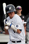 February 22, 2013: Nevada Wolf Pack catcher Ryan Teel is hit by a pitch against the Northern Illinois Huskies during their NCAA baseball game played at Peccole Park on Friday afternoon in Reno, Nevada.