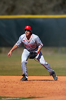 Ohio State Buckeyes first baseman Troy Kuhn (5) during a game against the Boston College Eagles on March 6, 2016 at North Charlotte Regional Park in Port Charlotte, Florida.  Boston College defeated Ohio State 6-2.  (Mike Janes/Four Seam Images)