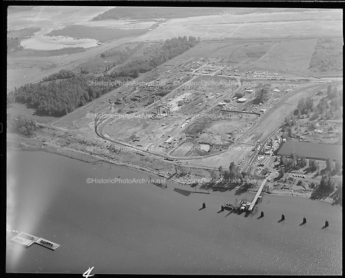 Ackroyd 15540-04 Port of Portland. Aerials at Rivergate. August 30, 1968""