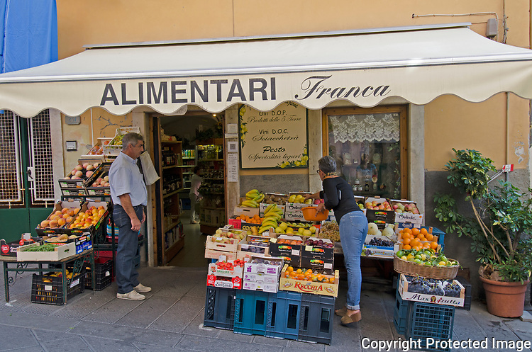 The only store with fruits and vegetables on the town of Vernazza,cinque terre.