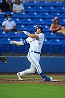 Dunedin Blue Jays Zach Britton (6) bats during a game against the Bradenton Marauders on June 5, 2021 at TD Ballpark in Dunedin, Florida.  (Mike Janes/Four Seam Images)