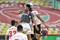 2nd June 2021; Maracana Stadium, Rio de Janeiro, Brazil; Copa do Brazil, Fluminense versus Red Bull Bragantino; Matheus Martinelli of Fluminense leaps to reach the header