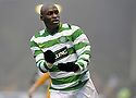 12/12/2009  Copyright  Pic : James Stewart.sct_jspa08_motherwell v celtic  . :: MARC ANTOINE FORTUNE CELEBRATES AFTER HE SCORES CELTIC'S WINNING THIRD :: .James Stewart Photography 19 Carronlea Drive, Falkirk. FK2 8DN      Vat Reg No. 607 6932 25.Telephone      : +44 (0)1324 570291 .Mobile              : +44 (0)7721 416997.E-mail  :  jim@jspa.co.uk.If you require further information then contact Jim Stewart on any of the numbers above.........