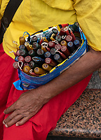 Selling Candles outside the  Basilica Minore del Sto. Niño de Cebu. Cebu Philppines
