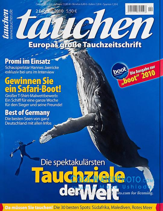 Tauchen Magazine, February 2010, cover use, Germany, Image ID: Humpback-Whale-0370