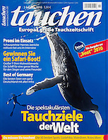 Tauchen Magazine, February 2010, cover use, Germany, Image ID: Humpback-Whale-0370