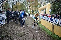 Bart Wellens (BEL/Telenet-Fidea) leaving the pits<br /> <br /> Superprestige Gavere 2014