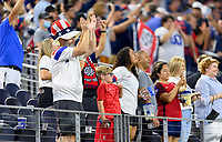 DALLAS, TX - JULY 25: Fans during a game between Jamaica and USMNT at AT&T Stadium on July 25, 2021 in Dallas, Texas.