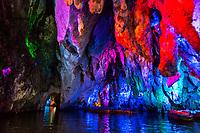China, Guizhou, Dragon Palace Inside the Cavern.