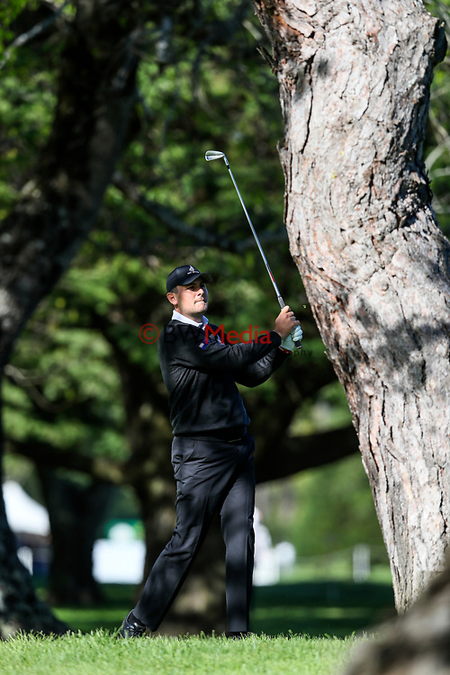 Ryan Chisnall of New Zealand during the Asia Pacific Amateur Golf Championship Round Two, Royal Wellington Golf Course, Wellington, New Zealand, 27 October2017.  Photo: Simon Watts/www.bwmedia.co.nz
