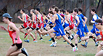 WATERTOWN CT. - 16 November 2020-111620SV02-Runners from the Berkshire League take off during the Berkshire League cross country championships in Watertown Monday.<br /> Steven Valenti Republican-American