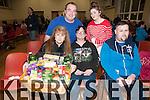 Listowel Bizarre : Attending the annual Listowel Bizarre at Scoil Reatla na Madna on Saturday night last were Margaret Coffey, Margaret Doyle & Con Dowling. Back : Eugene O'Connor & Danielle Foley.
