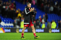 Gareth Bale of Wales   applauds the fans at the final whistle during the UEFA Nations League B match between Wales and Ireland at Cardiff City Stadium in Cardiff, Wales, UK.September 6, 2018