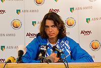 21-2-08, Netherlands, Rotterdam ABNAMROWTT 2008,  Persconference Nadal