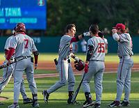 STANFORD, CA - JUNE 7: Brock Jones, Tim Tawa, Kody Huff, Grant Burton during a game between UC Irvine and Stanford Baseball at Sunken Diamond on June 7, 2021 in Stanford, California.