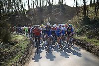 peloton  up the Cote de Trieu (max 13%)<br /> <br /> Kuurne-Brussel-Kuurne 2016