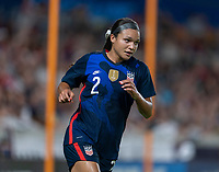 HOUSTON, TX - JUNE 13: Sophia Smith #2 of the USWNT runs during a game between Jamaica and USWNT at BBVA Stadium on June 13, 2021 in Houston, Texas.