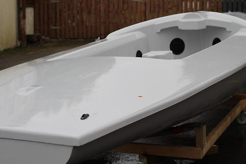 The new Ginger Boats Flying Fifteen hull