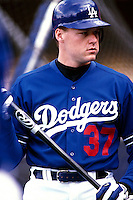 Darren Driefort of the Los Angeles Dodgers participates in a Major League Baseball game at Dodger Stadium during the 1998 season in Los Angeles, California. (Larry Goren/Four Seam Images)