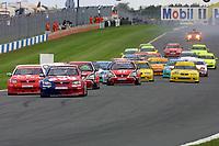 Round 10 of the 2002 British Touring Car Championship. Race Start.